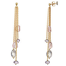 Buy Cobra & Bellamy 18ct Gold Tourmaline Earrings, Pink Online at johnlewis.com