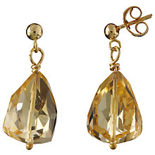 Buy Cobra & Bellamy 18ct Gold Citrine Earrings, Yellow Online at johnlewis.com