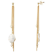 Buy Cobra & Bellamy 18ct Gold Pearl Drop Earrings, White Online at johnlewis.com