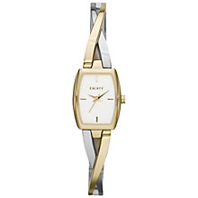 Buy DKNY NY2235 Women's Crosswalk Rectangle Bracelet Strap Watch, Gold/Silver Online at johnlewis.com