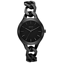 Buy DKNY Ny2219 Women's Chambers Bracelet Strap Watch, Black Online at johnlewis.com