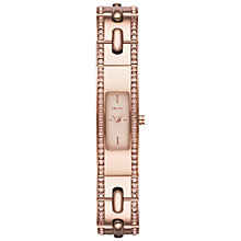 Buy DKNY NY2175 Women's Beekman Glitz Bangle Watch, Rose Gold Online at johnlewis.com