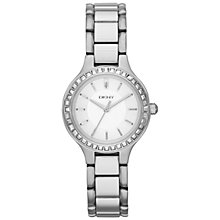 Buy DKNY NY2220 Women's Chambers Glitz Watch, Silver Online at johnlewis.com
