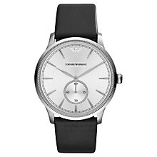 Buy Emporio Armani AR1797 Men's Classic Alpha Stainless Steel Watch, Silver / Black Online at johnlewis.com