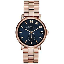 Buy Marc by Marc Jacobs MBM3330 Baker Bracelet Watch, Rose Gold/Navy Online at johnlewis.com