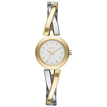 Buy DKNY Ny2171 Women's Crosswalk Round Watch, Gold/Silver Online at johnlewis.com
