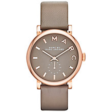Buy Marc by Marc Jacobs Women's Baker Leather Strap Watch, Mink Online at johnlewis.com