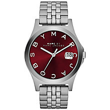 Buy Marc by Marc Jacobs MBM3314 The Slim Bracelet Watch, Silver/Cabernet Online at johnlewis.com