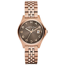 Buy Marc by Marc Jacobs MBM3352 Women's The Slim Watch, Rose Gold/Brown Online at johnlewis.com