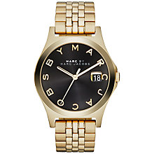 Buy Marc by Marc Jacobs MBM3315 Slim Bracelet Watch, Gold/Black Online at johnlewis.com