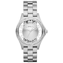 Buy Marc By Marc Jacobs MBM3337 Women's Henry Skeleton Glitz Bracelet Watch, Silver Online at johnlewis.com