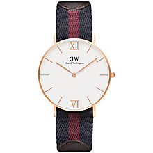 Buy Daniel Wellington Unisex Grace London Watch, Navy/Red Online at johnlewis.com