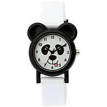 Buy Tikkers TK0093 Children's Panda Watch, Black/White Online at johnlewis.com