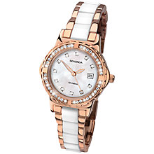 Buy Sekonda 2022.27 Women's Two Tone Rose Gold Plated Stone Set Watch, White / Rose Gold Online at johnlewis.com