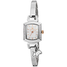 Buy Radley RY2290 Women's Dog Charm Bangle Strap Watch, Silver Online at johnlewis.com
