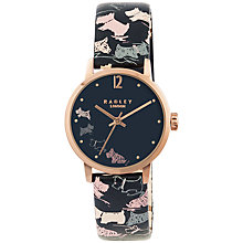 Buy Radley RY2272 Women's Mini Dogs Leather Strap Watch, Navy/Multi Online at johnlewis.com