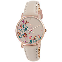 Buy Radley RY2276 Floral Dial Leather Strap Watch, Taupe Online at johnlewis.com