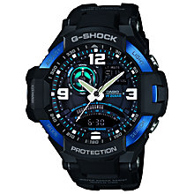 Buy Casio GA-1000-2BER G-Shock Men's Resin Strap Watch, Black/Blue Online at johnlewis.com