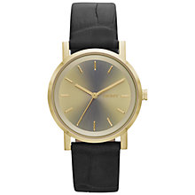 Buy DKNY Ny2244 Women's Soho Gold Dial Croc Strap Watch, Brown Online at johnlewis.com