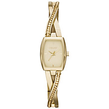 Buy DKNY Ny2237 Women's Crosswalk Rectangle Glitz Watch, Rose Gold Online at johnlewis.com