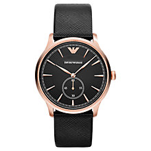 Buy Emporio Armani AR1798 Men's Classic Alpha Stainless Steel Watch, Rose Gold / Black Online at johnlewis.com