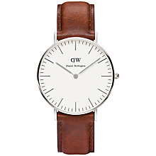 Buy Daniel Wellington Women's Classic St Andrews Lady Watch, Tan/Silver Online at johnlewis.com