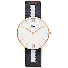 Buy Daniel Wellington Unisex Grace Glasgow Watch, Navy/White Online at johnlewis.com