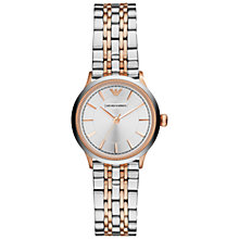 Buy Emporio Armani AR1827 Women's Alpha Stainless Steel Watch, Silver / Gold Online at johnlewis.com