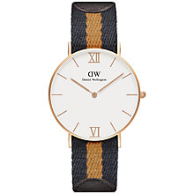 Buy Daniel Wellington Unisex Grace Selwyn Watch, Navy/Mustard Online at johnlewis.com