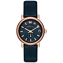 Buy Marc by Marc Jacobs MBM1331 Mini Baker Strap Watch, Rose Gold/Navy Online at johnlewis.com