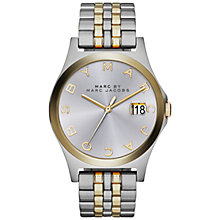 Buy Marc by Marc Jacobs MBM3319 Slim Bracelet Watch, Two Tone Silver/Gold Online at johnlewis.com