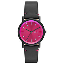 Buy DKNY Soho Leather Strap Watch Online at johnlewis.com