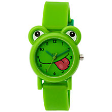 Buy Tikkers TK0094 Children's Frog Watch, Green Online at johnlewis.com