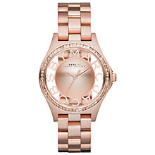 Buy Marc By Marc Jacobs MBM3337 Women's Henry Skeleton Glitz Bracelet Watch, Rose Gold Online at johnlewis.com