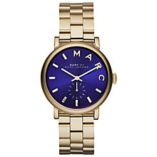 Buy Marc by Marc Jacobs MBM3343 Women's Baker Bracelet Watch, Blue/Gold Online at johnlewis.com