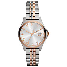 Buy Marc by Mark Jacobs BM3353 Women's The Slim Watch, Silver/Rose Gold Online at johnlewis.com