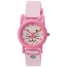 Buy Tikkers TK0087 Children's Cat Watch, Pink Online at johnlewis.com