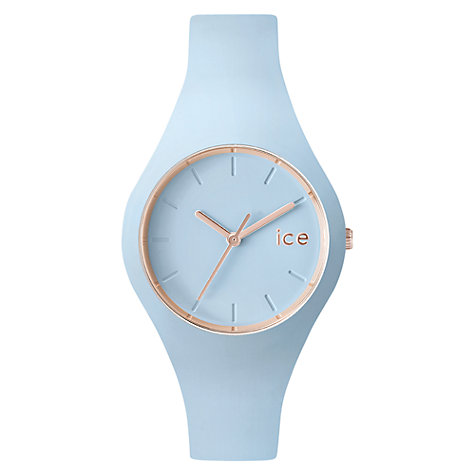 Buy Ice-Watch ICE.GL.LO.S.SS.14 Unisex Glam Pastel Silicone Strap Watch, Pale Blue Online at johnlewis.com