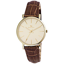 Buy Radley RY2268 Leather Croc Strap Watch, Brown Online at johnlewis.com