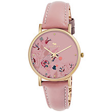 Buy Radley RY2278 Floral Dial Leather Strap Watch, Pink Online at johnlewis.com