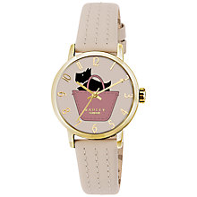 Buy Radley RY2288 Women's Basket Dog Stitch Leather Strap Watch, Taupe/Multi Online at johnlewis.com