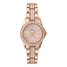 Buy Sekonda 2034.27 Women's Oval Rose Gold Plated Stone Set Watch, Sandblast Rose Online at johnlewis.com