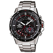 Buy Casio ERA-200DB-1AVER Edifice Men's Watch, Silver/Black Online at johnlewis.com