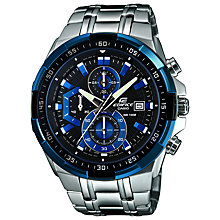 Buy Casio EFR-539D-1A2VUEF Edifice Men's Bracelet Strap Watch, Silver Online at johnlewis.com