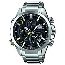 Buy Casio EQB-500D-1AER Men's Watch, Silver/Black Online at johnlewis.com