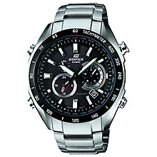 Buy Casio EQW-T620DB-1AER Edifice Men's Bracelet Watch, Silver/Black Online at johnlewis.com