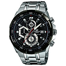 Buy Casio EFR-539D-1AVUEF Men's Edifice Bracelet Watch, Silver Online at johnlewis.com