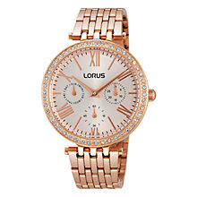 Buy Lorus RP688BX9 Women's Just Sparkle Stainless Steel Watch, Rose Gold Online at johnlewis.com