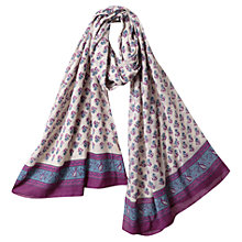 Buy East Booti Print Scarf, Magenta Online at johnlewis.com