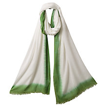 Buy East Maila Ombre Border Scarf, Meadow Online at johnlewis.com